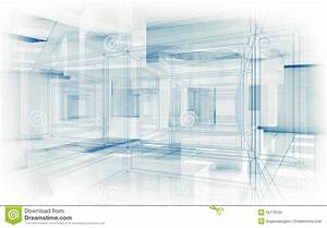 Abstract Hi-tech Background. White Interior 3d Stock ...