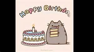 pusheen cat birthday pusheen cat birthday compilation