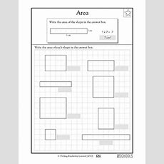3rd Grade Math Worksheets What's The Area? Greatschools