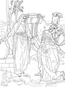 moses  zipporah coloring page supercoloringcom