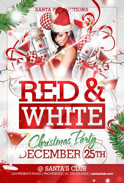 christmas party flyer and white flyer templates by creativb graphicriver