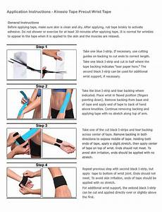 Simple Kinesiology Tape Instructions For Wrist