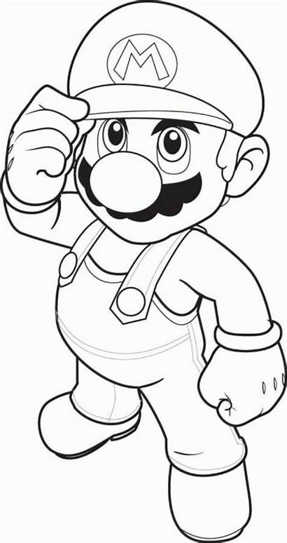 Coloring Mario Pages Character Games Boys