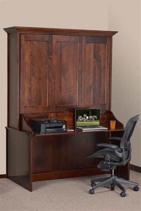 Vertical Murphy Wall Bed and Desk   Murphy bed