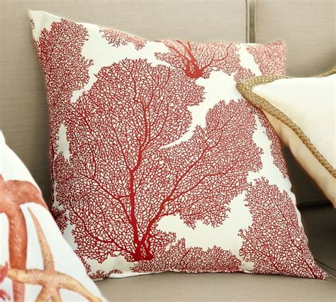Pottery Barn Large Decorative Pillows by Fan Coral Outdoor Pillow Tropical Decorative Pillows