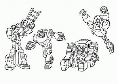 Rescue Bots Coloring Pages Transformers Printable Blaze