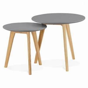 Table Basse Bois Foncé : tables basses design gigognes art en bois et ch ne massif gris fonc ~ Teatrodelosmanantiales.com Idées de Décoration