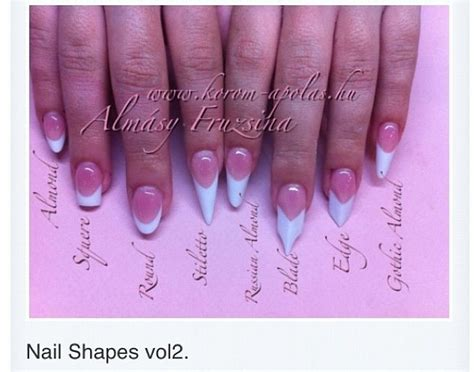 Nail Shapes. The pointy nails are trending right now. I vote for short square or almond ...