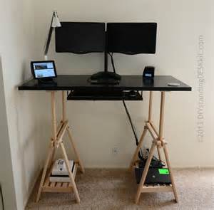 Standing Desk Conversion Kit by Standing Desk In Black With Dual Monitor Stand And