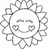 Coloring Sun Pages Printable Sheets Sol sketch template
