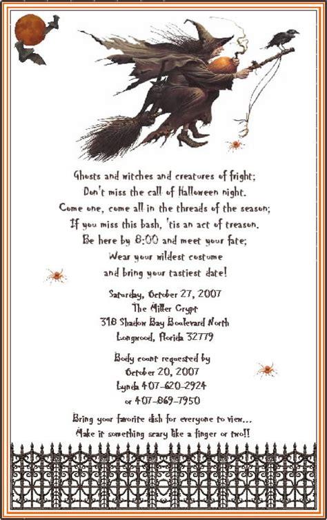adult halloween party invitation wording festival