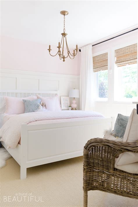 Sweet Pink and White Little Girl's Bedroom Toddler