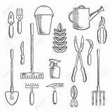 Tools Gardening Drawing Getdrawings sketch template
