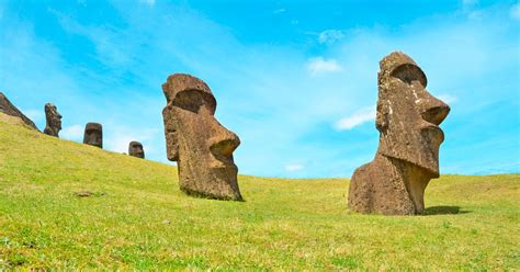 stonehenge  easter island heads  mysterious