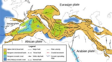 Filetectonic Map Mediterranean Ensvg Wikipedia