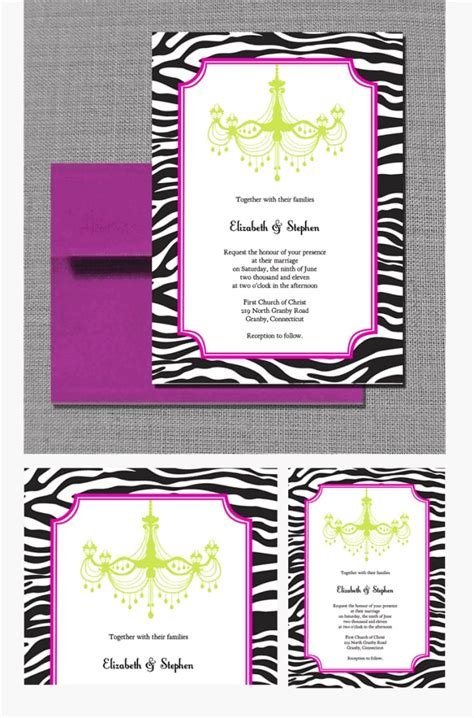 zebra print chandelier zebra print and chandelier wedding invitation free