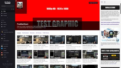 The Best Twitch Profile Banner Template With Psd Download