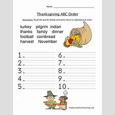 Holidays Thanksgiving Worksheets Resources