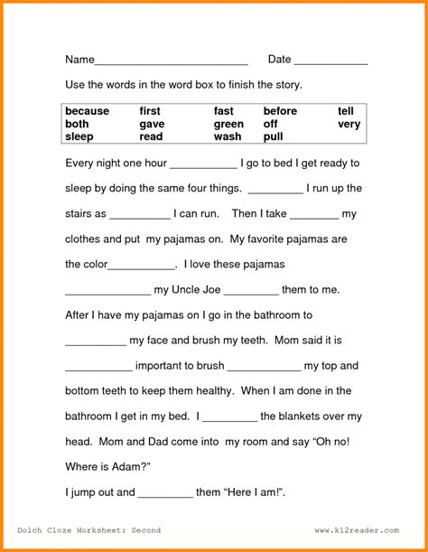 second grade reading activities the best worksheets image