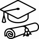 Graduation Diploma Cap Svg Icon Hat Transparent