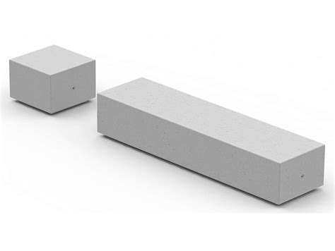 panchina in pietra ricostruita senza schienale ibox by