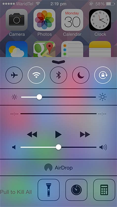 get an ios 6 style app switcher tray in ios 7 center
