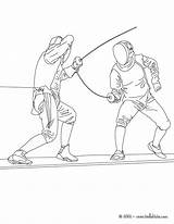 Fencing Coloring Pages Sport Martial Arts Sheets Hellokids Cartoon Sports Drawing Printable Visit Craft sketch template