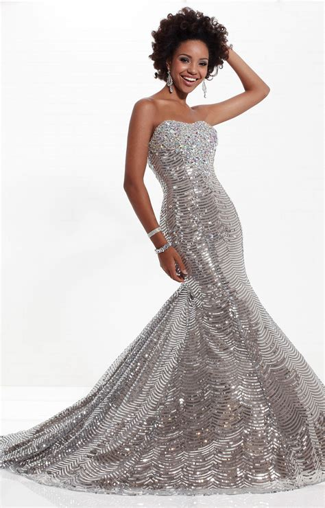 tiffany designs  red carpet gown prom dress