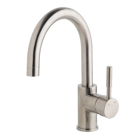 symmons faucets home depot symmons dia single handle bar faucet in satin spb 3510 stn