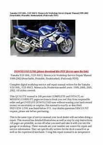 Yamaha Yzf R6l  Yzf R6cl Motorcycle Workshop Service