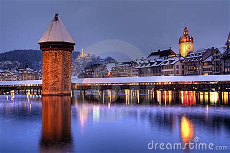 lucerne skyline  winter switzerland stock images