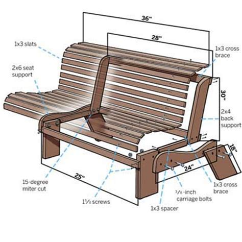 plans for a wooden garden bench woodworking
