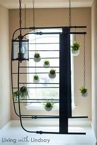 DIY Hanging Bed Frame Faux Planter - Makely