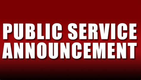 Public Service Announcement Wemxfm
