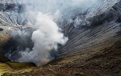 Volcano Bromo Crater Indonesia Mount Smoke Landscape