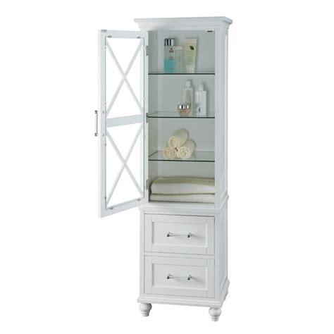 2 drawer linen tower in white elg 634