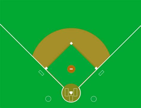 baseball field template file baseball clean svg