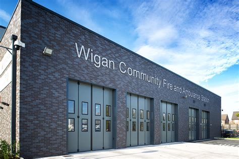 wigan community fire  ambulance station bluesky
