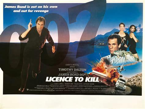 original james bond licence  kill  poster