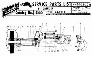 Milwaukee 5200 Parts List And Diagram