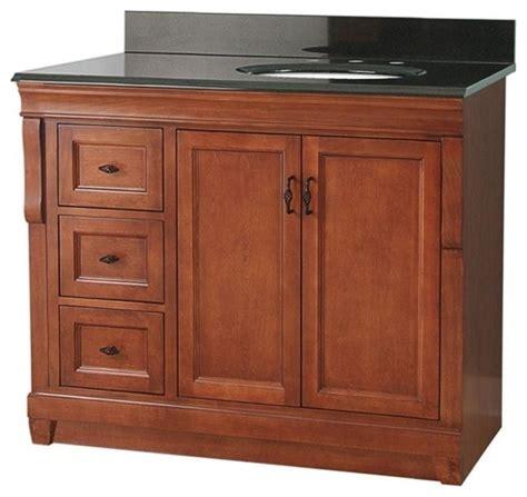 right offset sink vanity naples vanity warm cinnamon with granite vanity top with