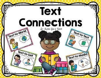 text connections posters  read respond sheets