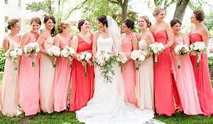 pink bridesmaid dresses Tulle & Chantilly Wedding Blog
