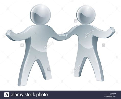 stylized handshake cut  stock images pictures alamy