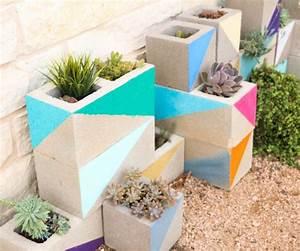 Fabriquer Grande Jardiniere Beton : jardini re en b ton diy en parpaings pour les plantes grasses ~ Melissatoandfro.com Idées de Décoration