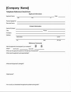 Address List Template Word Telephone Reference Check Form Word Excel Templates