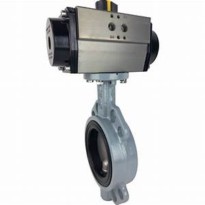 4 Air Actuated Butterfly Valve  Wafer  Nbr  Double Acting