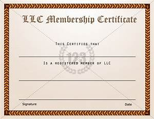 membership certificate templates best quality llc free With llc membership certificate template
