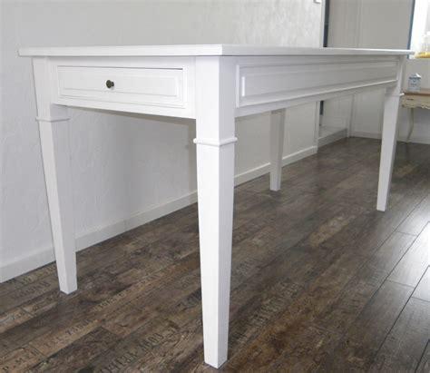 table cuisine blanche table de cuisine salle à manger peinte blanche anjoudeco