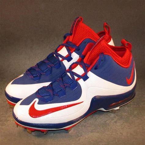 nike air max mvp elite  baseball cleats size  red